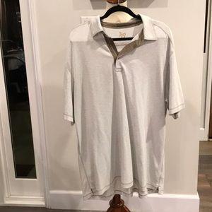 Men's knit polo style shirt